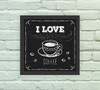 Quadro Decorativo Love Coffee Blackboard - Arte e Cores