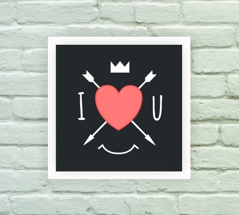 Quadro Decorativo I Love You - comprar online