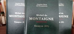 ENSAYOS - MICHEL DE MONTAIGNE  3 TOMOS