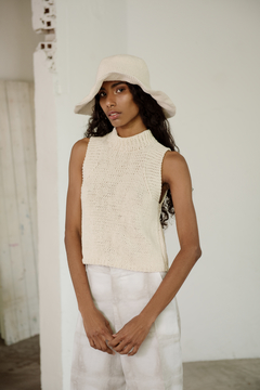 Hand Knitted High Neck Top - buy online