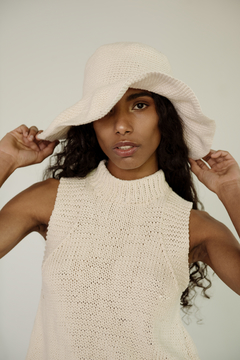 Hand Knitted High Neck Top