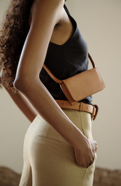 Leather fanny pack on internet