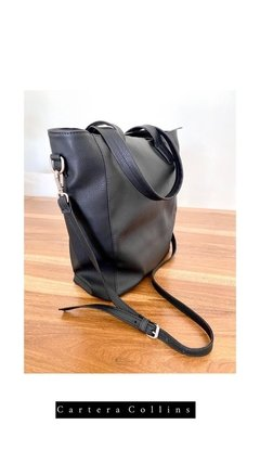 Cartera Eco Cuero Collins - Negra en internet