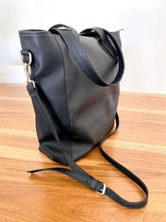 Cartera Eco Cuero Collins - Negra