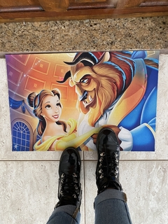 Tapete 60x40cm - a bela e a fera ( beauty and beast) - JB Home