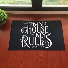 Tapete 60x40cm - My house my rules - comprar online