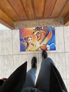 Tapete 60x40cm - a bela e a fera ( beauty and beast)