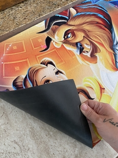 Tapete 60x40cm - a bela e a fera ( beauty and beast) na internet