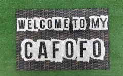 TAPETE 60x40CM - WELCOME TO MU CAFOFO