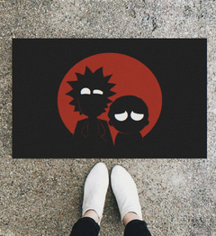 TAPETE 60x40CM - Rick and Morty silhueta