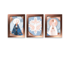 Kit 3 Quadros Decorativos Espirito Santo