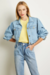 JAQUETA JEANS CROPPED PUFF - comprar online