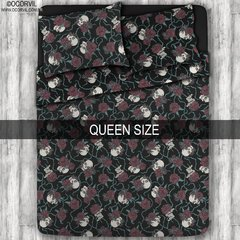 Skulls & Red Roses Sheet Set, Queen