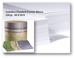 Cartulina Chambril Premier Blanca 210 gr.  A3 X 50 H