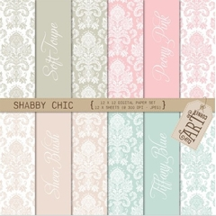 CAC - Paper Damask Shabby Chic