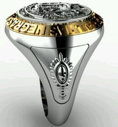 Classic ring of the military academy of the black needles (aman) in sterling silver (950) gold (750) 18k on internet