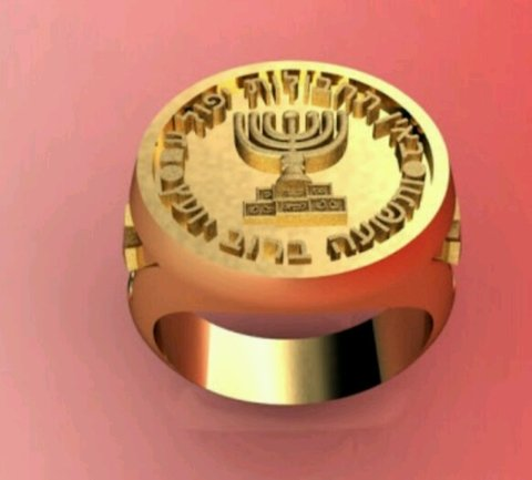 Mossad ring in 18k gold