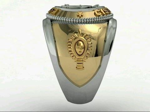 Music Ring of the School of Logistics sergeants in gold with silver