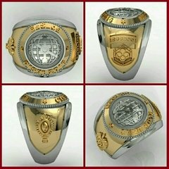 Topographer's Ring of the School of Silver Logistics sergeants with gold accents