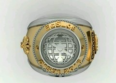Topographer's Ring of the School of Silver Logistics sergeants with gold accents - buy online