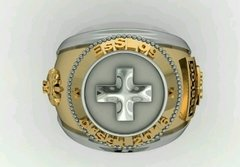 Health Ring of the School of Logistics sergeants in Ouro18k with silver - buy online