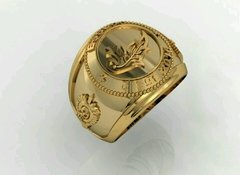 Ring Intendence of the School of Logistics sergeants in 18k gold - online store