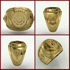 Ring Communications of the School of Logistics sergeants in 18k gold
