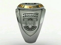 Ring communications from the School of Logistics sergeants in silver with 18k gold on internet