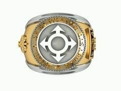 Communications Ring of the School of Arms sergeants in 18k gold with sterling silver - online store
