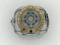 Communication Ring of the School of Weapons sergeants in silver with Ouro18k - buy online