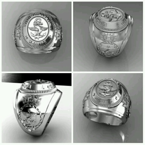 Sterling Silver Combat Divers Group Ring