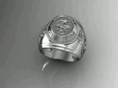 Sterling Silver Combat Divers Group Ring - online store