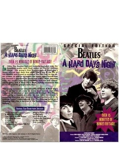 VHS THE BEATLES A HARD DAY NIGHT 1995 GRAV MPI HOME VIDEO USA - comprar online