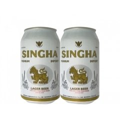 LATA SINGHA LAGER BEER 330 ML ALUMÍNIO THAILAND