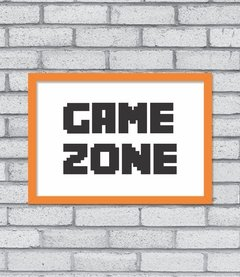 Quadro Game Zone na internet