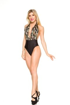Body Escote Marylin Camuflado