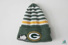 Gorro NFL Green Bay Packers New Era Striped Cuff Draft Store