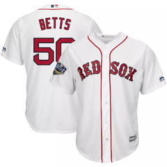 ENCOMENDA - Camisa MLB Boston Red Sox Mookie Betts Majestic World Series 2018 Cool Base Jersey