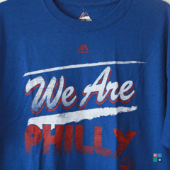 Camisa Majestic NBA Philadelphia 76ers We Are Philly T-Shirt Draft Store