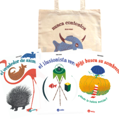 Pack #3 - Tres libros pop up + bolsa estampada + envío gratis