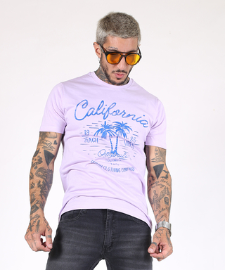 Remera California Celeste