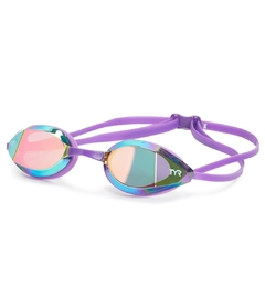 TYR EDGE-X RACING MIRRORED ADULT GOGGLES Simone Manuel purple