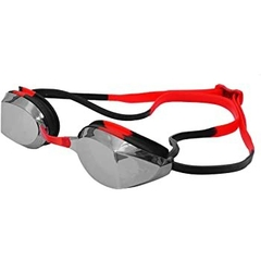TYR EDGE-X RACING MIRRORED ADULT GOGGLES silver red