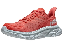 HOKA ONE ONE Clifton Edge Women's Shoes Hot Coral/White