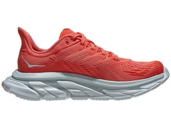 HOKA ONE ONE Clifton Edge Women's Shoes Hot Coral/White - comprar online