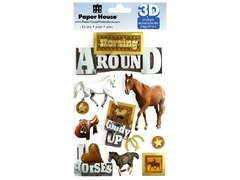 Adesivo 3D Paper House - Horsing