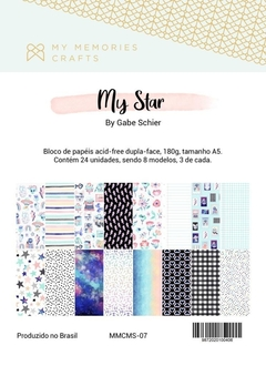 Bloco de papéis A5 My Star - My Memories Crafts