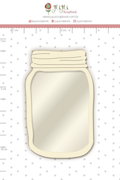 Shaker Chipboard Branco Pote - Juju Scrapbook