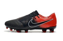 CHUTEIRA NIKE PHANTOM VENOM ELITE CAMPO BLACK+RED - Sport Shoes