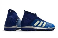 Chuteira Adidas Predator 18 Society Original Blue Blast - Sport Shoes